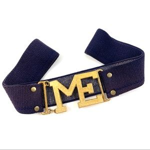 """1970's gold """"ME"""" buckle belt by ACCESSOCRAFT"""